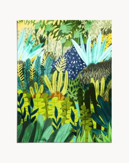 Wild jungle boho nature painting art print by artist Uma Gokhale
