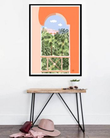 Buy the Summer Travel 16 X20 modern boho illustration painting poster by artist Uma Gokhale
