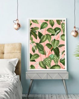 Lovely silence of things that grow original modern boho botanical nature tropical art print by artist Uma Gokhale for 83 Oranges