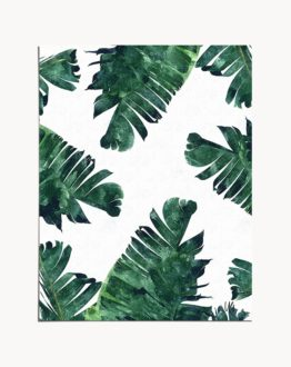 Banana leaves watercolor original modern eclectic botanical nature tropical signed art print by artist Uma Gokhale for 83 Oranges