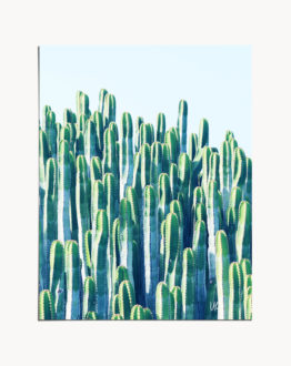 Shop the cactus by the sea eclectic abstract modern boho art print signed by artist Uma Gokhale 83 Oranges
