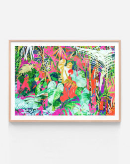 Shop the take me where the torpical things are botanical nature modern boho painting art print signed by artist Uma Gokhale 83 Oranges