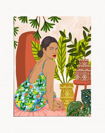 Shop Anything Worth Having, Is Worth The Wait modern boho illustration painting Art Print by artist Uma Gokhale 83 Oranges unique artist-designed wall art & home décor