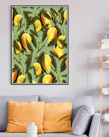 Shop Mango Season botanical tropical nature modern boho painting Art Print by artist Uma Gokhale 83 Oranges unique artist-designed wall art & home décor