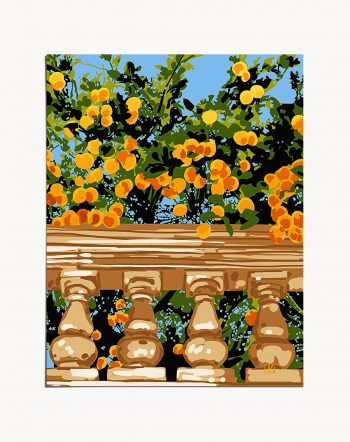 Shop No Darkness Can Touch You tropical botanical modern floral Art Print by artist Uma Gokhale 83 Oranges unique artist-designed wall art & home décor