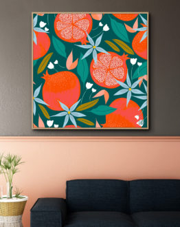 Shop Summer Pomegranate fruit pattern modern Summer Pomegranate
