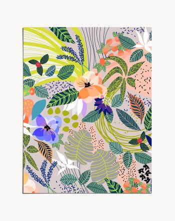 Shop Wander tropical botanical modern boho illustration painting Art Print by artist Uma Gokhale 83 Oranges unique artist-designed wall art & home décor