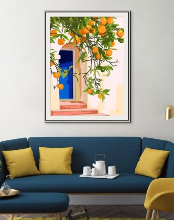 Shop Wherever you go, go with all your heart tropical botanical modern boho illustration painting Art Print by artist Uma Gokhale 83 Oranges unique artist-designed wall art & home décor