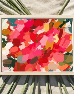 Shop the 'Amara' abstract illustration painting art print signed by artist Uma Gokhale 83 Oranges
