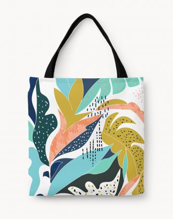 Shop Art & Soul, Abstract Modern Bohemian Eclectic Tote Bag by artist Uma Gokhale 83 Oranges artist-designed fashion & accessories