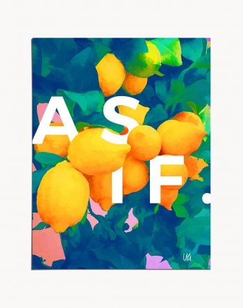 Shop As If typography minimal bohemian botanical illustration painting Art Print by artist Uma Gokhale 83 Oranges unique artist-designed wall art & home décor
