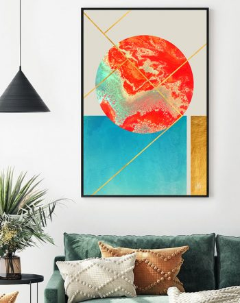 Shop Earth & Sea modern illustration Art Print by artist Uma Gokhale 83 Oranges unique artist-designed wall art & home décor