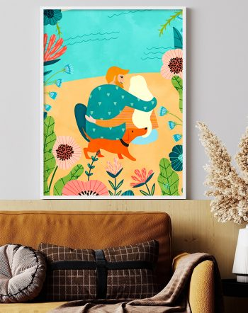Shop Ewe mean the world to me modern boho illustration Art Print by artist Uma Gokhale 83 Oranges unique artist-designed wall art & home décor