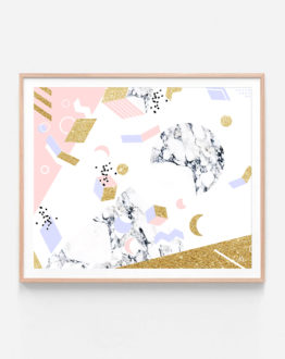 Shop Marble Moon Abstraction Art Print, Abstract Luxe Graphic Wall Decor, Neutral Eclectic Modern Quirky Art Print by artist Uma Gokhale 83 Oranges unique artist-designed wall art & home décor