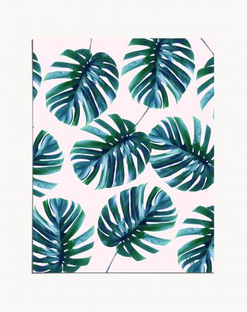Shop Monstera Again tropical botanical modern illustration Art Print by artist Uma Gokhale 83 Oranges unique artist-designed wall art & home décor