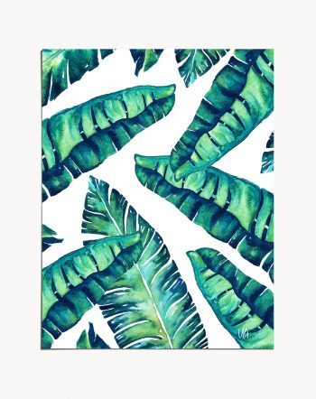Shop Tropical Glam tropical modern boho Art Print by artist Uma Gokhale 83 Oranges unique artist-designed wall art & home décor