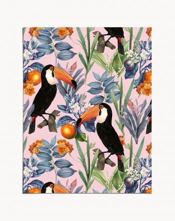 Shop Tucan Garden modern boho illustration Art Print by artist Uma Gokhale 83 Oranges unique artist-designed wall art & home décor