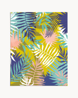 Shop Vie De Palme tropical botanical modern illustration Art Print by artist Uma Gokhale 83 Oranges unique artist-designed wall art & home décor