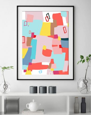 Shop Windows of Possibility abstract modern boho Art Print by artist Uma Gokhale unique artist-designed wall art & home décor
