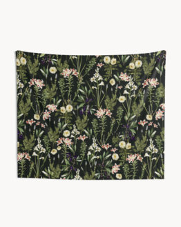 Shop the dark botanical garden tapestry by artist Uma Gokhale 83 Oranges home decor