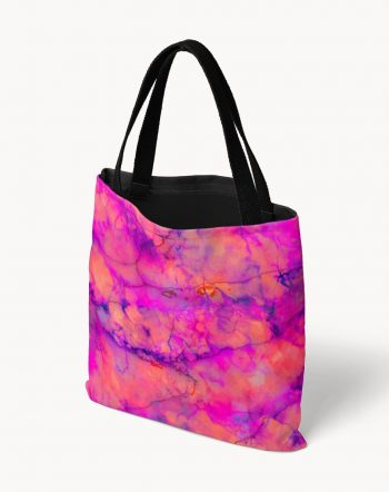 Shop Pink Marble, Abstract Bold Pop of Color Eclectic graphic texture Tote Bag by artist Uma Gokhale 83 Oranges unique artist-designed fashion & accessories