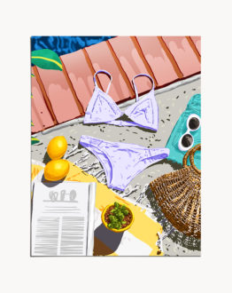 Shop Summer Swim, Bikini Fashion, Swimming Pool Art Print by artist Uma Gokhale by artist Uma Gokhale 83 Oranges unique artist-designed wall art & home décor