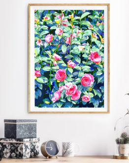 Shop Bohemian Rose Garden, Botanical Painting, Nature Floral Graphic Art Print by artist Uma Gokhale 83 Oranges unique artist-designed wall art & home décor