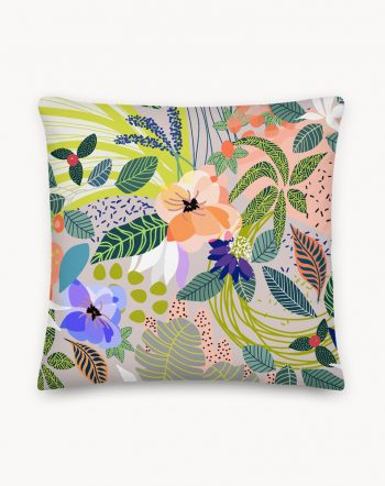 Shop the Wander botanical premium throw pillow designed by artist Uma Gokhale