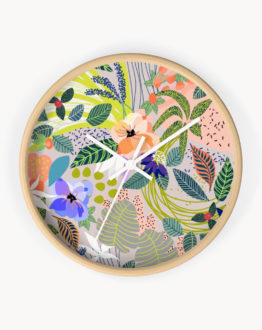 Shop The Wander designer wall clock by artist Uma Gokhale for 83 Oranges home decor