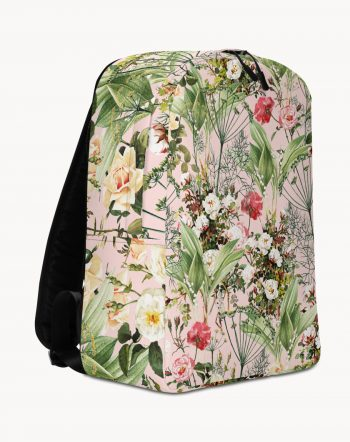 Botanic Blush, Bohemian Rose Vintage Floral Botanical Backpack by artist Uma Gokhale 83 Oranges bags & accessories