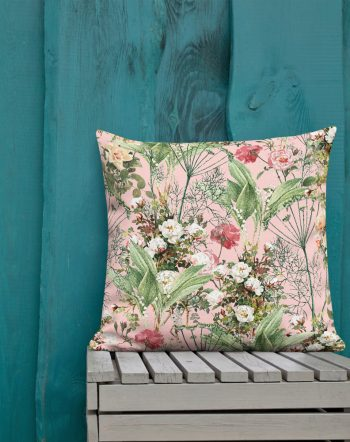 Shop the botanic designer throw pillow by artist Uma Gokhale for 83 Oranges home decor