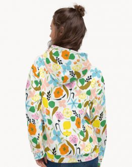 Shop Lemon Botanicals, Tropical Nature Chic Colorful Unisex Hoodie designed by artist Uma Gokhale 83 Oranges womens Fashion