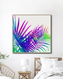 Colorful Palm, Eclectic Tropical Vibrant Botanical Urban Jungle