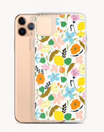 Shop Lemon Botanicals illustration by artist Uma Gokhale 83 Oranges iPhone Case