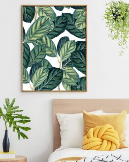 Shop Botany, Vintage Botanical Nature Illustration, Green Minimal Art Print by artist Uma Gokhale 83 Oranges artist-designed unique wall art & home decor