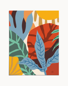 Shop Wherever Life Plants You, Bloom With Grace, Abstract Botanical Art Print by artist Uma Gokhale 83 Oranges unique artist-designed wall art & home décor