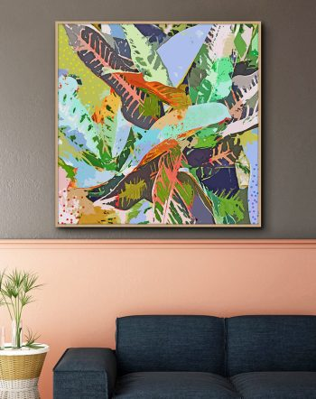 Shop Jungle Plants, Tropical Nature Bohemian Botanical Painting Art Print by artist Uma Gokhale 83 Oranges unique artist-designed wall art & home décor