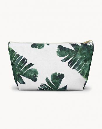 Shop Banana Leaves Watercolor, Tropical Nature Botanical Accessory Pouch by artist Uma Gokhale 83 Oranges fashion Accessories